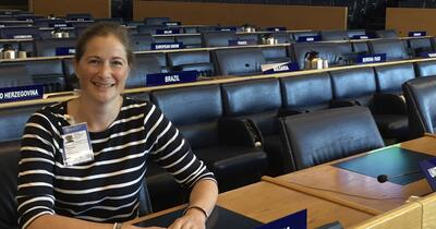 Vicky Robinson at FAO Headquarters in Rome